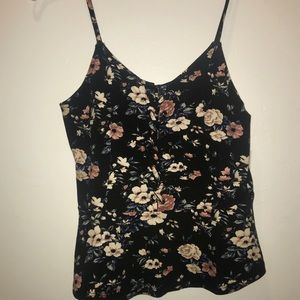 NWT American Eagle Black Lace up Tank